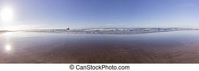 el, destination., jadida, océano, famoso, atlántico, vista, ...