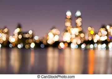 El dorado out of focus - Central Park Reservoir was built in...