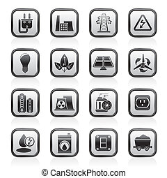 el, energi, magt, iconerne