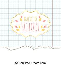 el, escuela, plano de fondo