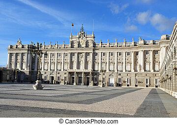 el, español, palacio real, (palacio, real), en, madrid, españa