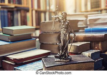 el, estatua, de, justicia