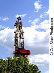 el, extracción, de, aceite y gas