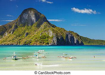 el, filipinas, nido, baía