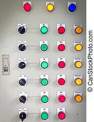 el, fuego, panel de control