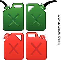 el gas puede, aceite