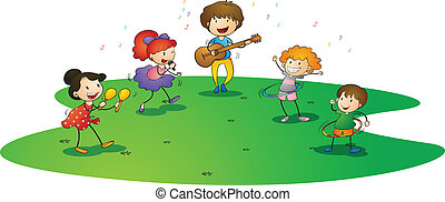 el gozar, música, niños
