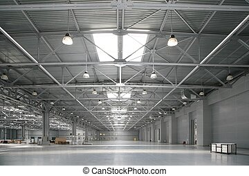 el, grande, almacén, de, centro comercial