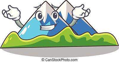 el hacer muecas, montaña, carácter, forma, miniatura