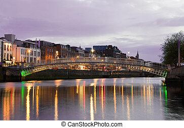 el, hapenny, puente, -, dublín