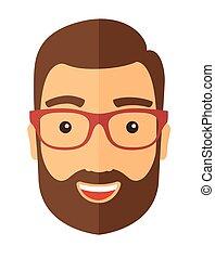 el, hipster, con, un, barba, avatar