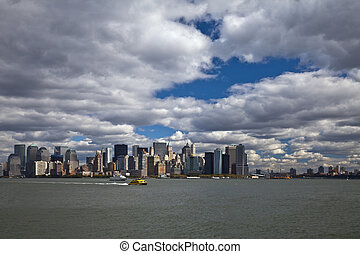 el, horizonte de new york city