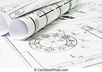 el, ingeniería, dibujo