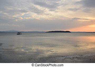 el, isla, maggiore, de, lago, trasimeno, en, umbria, -,...