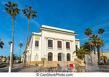 el, jadida, municipal, teatro, marruecos