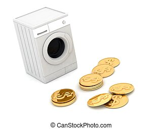 el lavar planchar del dinero