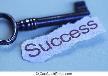 el, llaves, a, éxito