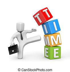 el, lucha, con, tiempo