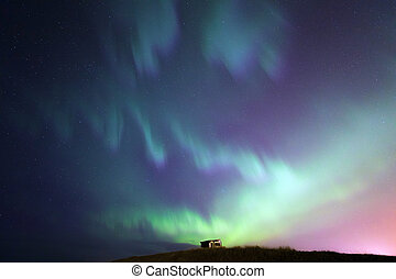 el, luz del norte, aurora borealis, islandia