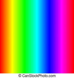 el, luz, espectro
