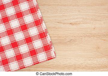 el, mantel accidentado, en, tabla de madera