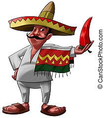 el, mexicano, y, el, jalapeno