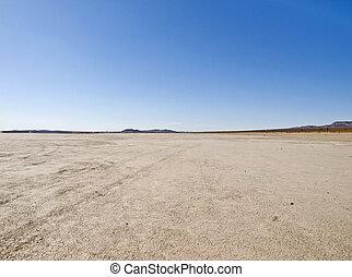 El Mirage dry lake in California's Mojave Desert.