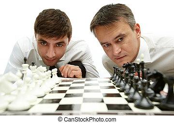 el mirar, ajedrez, figuras