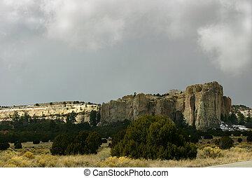 El Moro in Storm - El Moro with storm clouds gathering