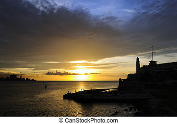 El Morro Fort in Havana bay entrance