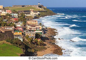 El Morro fort in San Juan, Puerto Rico - El Morro fort in...