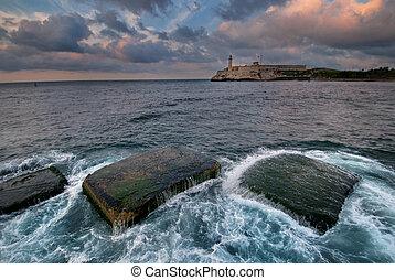El Morro fortress in Havana bay entrance