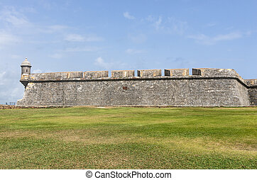 El Morro Fortress Wall and Sentry Box