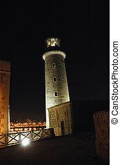 El Morro lighthouse at night time, Havana.