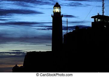 """""""El Morro"""" lighthouse in Havana, cuba"""