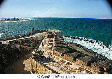 El Morrow Cannon View - View from El Morro fort in San Juan...
