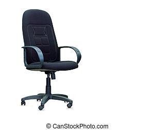 el, negro, oficina, chair., aislado