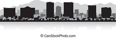 el, orizzonte, paso, silhouette, città