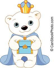 el, oso polar, como, un, bíblico, magi