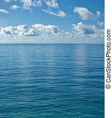 el, pacífico, calma, océano