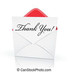 el, palabras, gracias, en, un, tarjeta