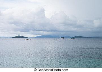 el , palawan , φιλιππίνες , nido, καταιγίδα , aproaching