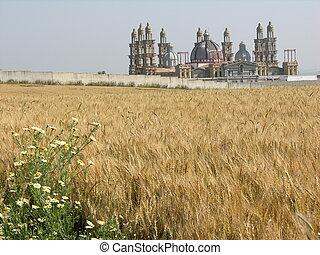 El Palmar de Troya - This castle-like compound rises...