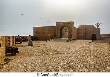 el, paredes, fortaleza, jadida, marruecos