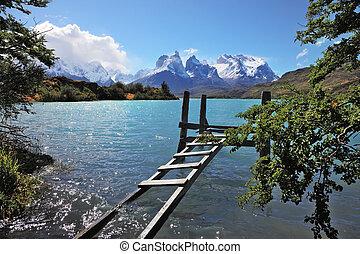 el, parque nacional, torres del paine, en, chile