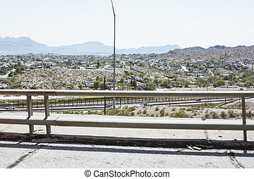 El Paso cityscape from the freeway