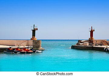 El Portet boats marina in Altea of Alicante