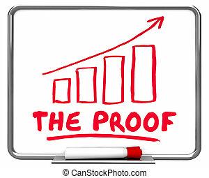 el, prueba, diagrama, hechos, investigación, resultados, evidencia, 3d, ilustración