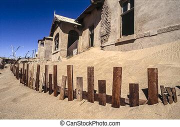 el, pueblo fantasma, de, kolmanskop