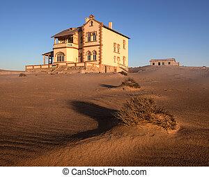 el, pueblo fantasma, de, kolmanskop, namibia